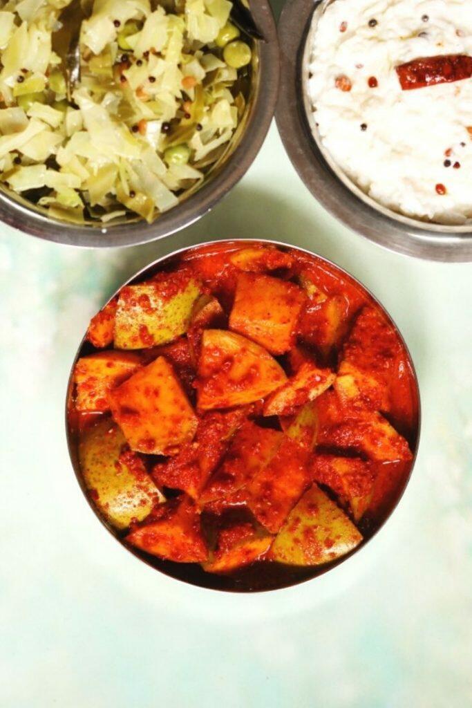 Mavinakayi Uppinakayi | No Oil Mango Pickle from Karnataka