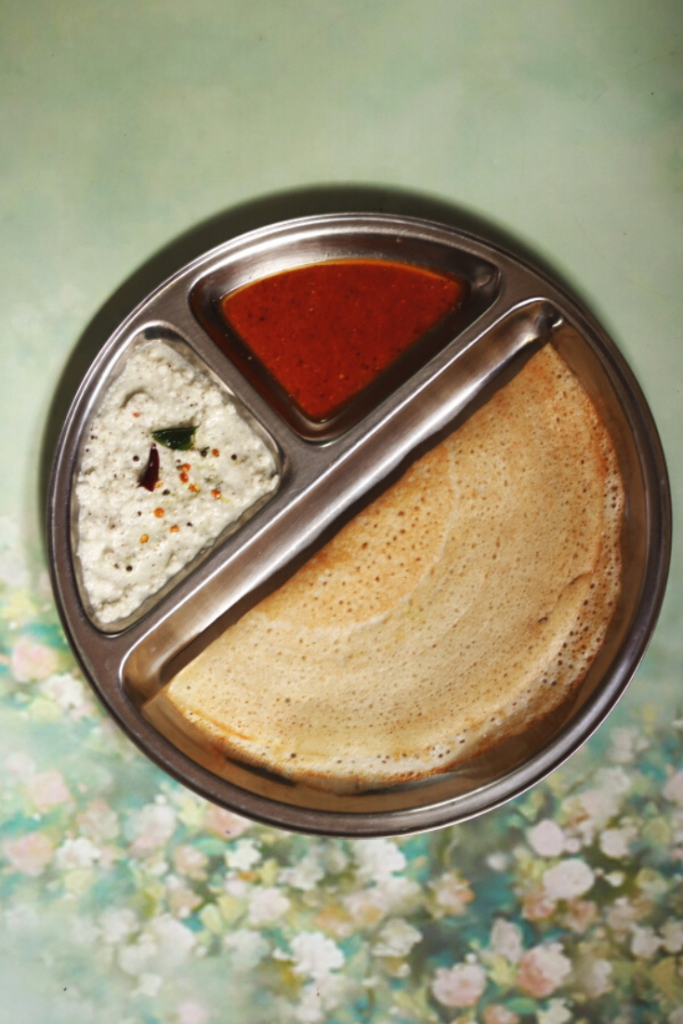 Rice and Poha Dosa is a crisp dosa (crepe) made with rice and beaten rice.
