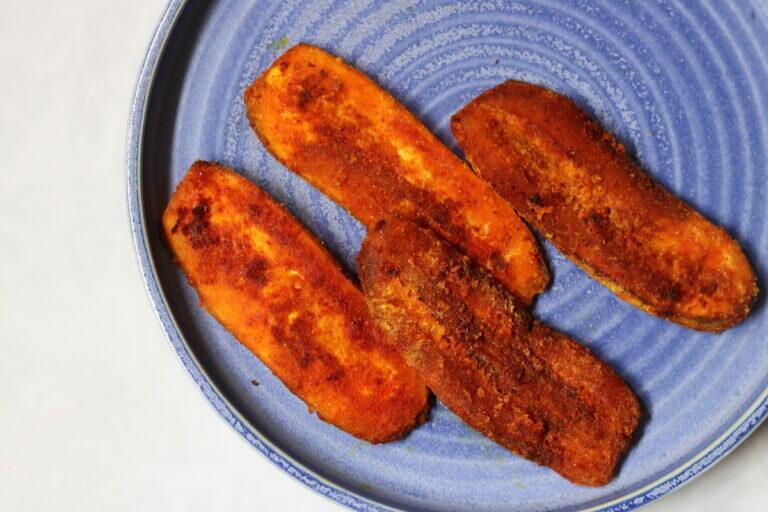 Kelyacha Kaap or the crispy, crunchy, vegan, gluten-free pan-fried raw banana slices from Maharashtra